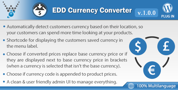 CodeCanyon Easy Digital Downloads Currency Converter 20773867
