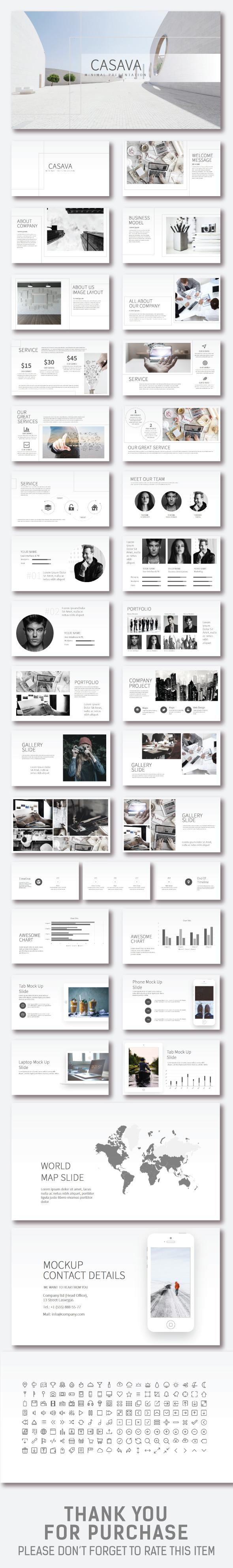 Casava Minimal Presentation - Business PowerPoint Templates