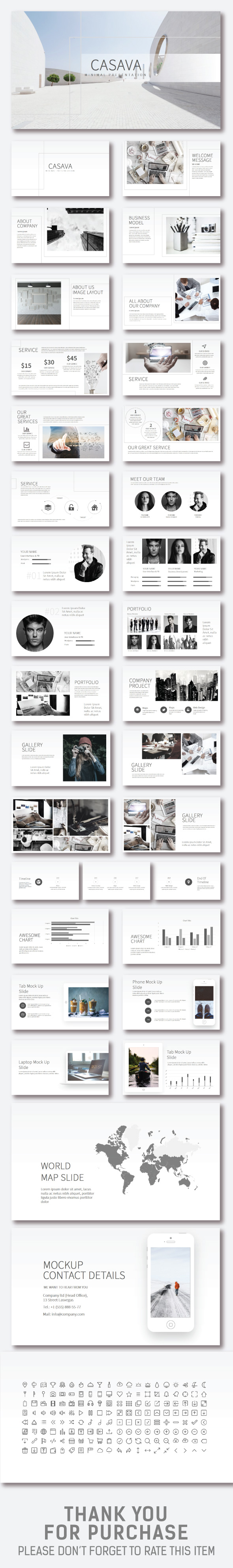 Casava Keynote Presentation - Business Keynote Templates