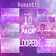 Romantic Hearts 10 Background Pack