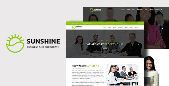 Sunshine - Multipurpose Corporate And Business WordPress Theme - Corporate WordPress