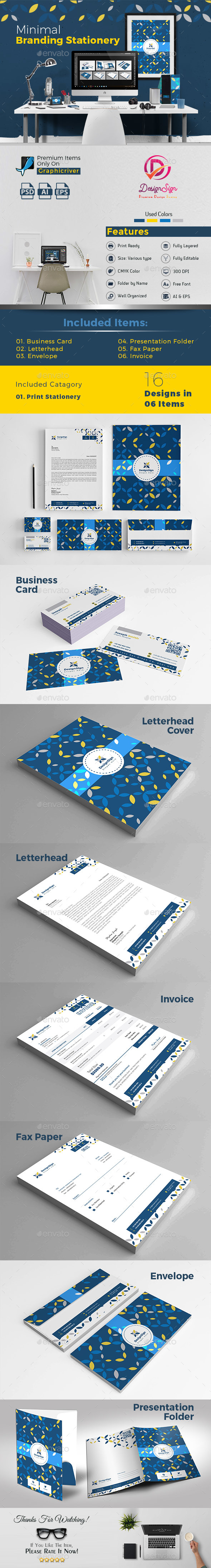 GraphicRiver Minimal Branding Stationery 20774494