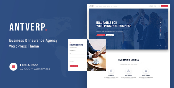 Antverp | Insurance & Financial Advising WordPress Theme - Business Corporate