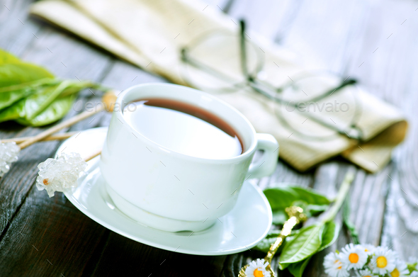 tea in cup - Stock Photo - Images