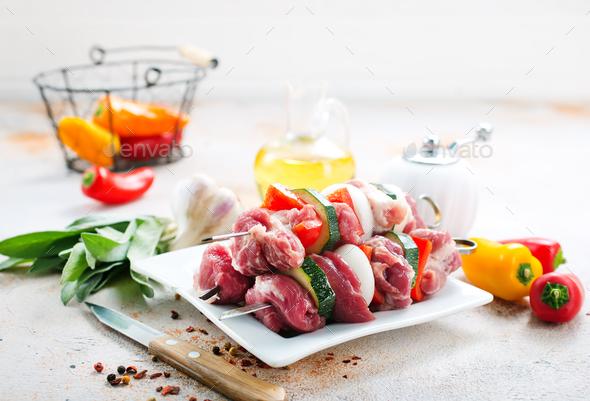 raw kebab - Stock Photo - Images