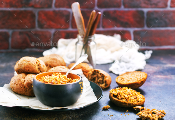Mushroom caviar - Stock Photo - Images