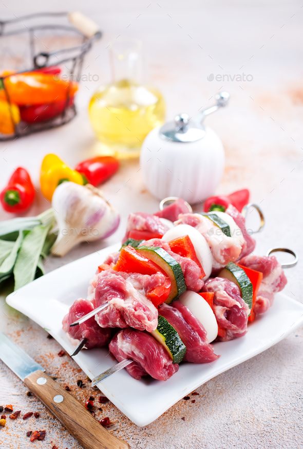 raw kebab - Stock Photo - Images