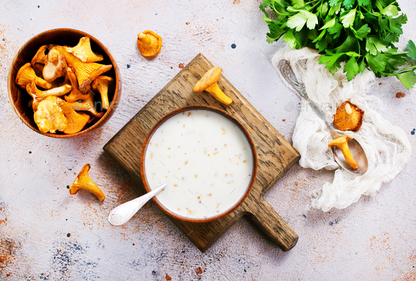 mushroom soup - Stock Photo - Images