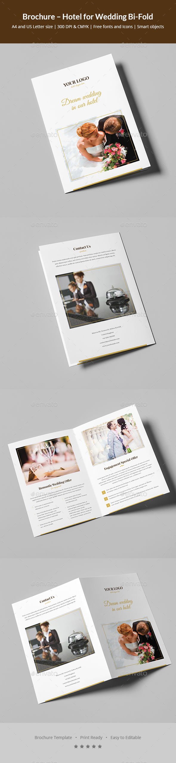 Brochure – Hotel for Wedding Bi-Fold - Informational Brochures