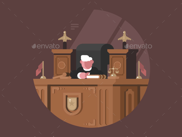 GraphicRiver Wise Judge in Chair at Workplace 20774637