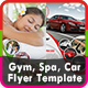 Gym, Spa & Car Flyer Templates - GraphicRiver Item for Sale