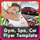 Gym, Spa & Car Flyer Templates