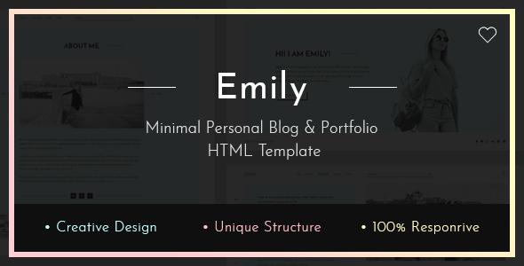 Emily — Personal Blog HTML Template - Creative Site Templates
