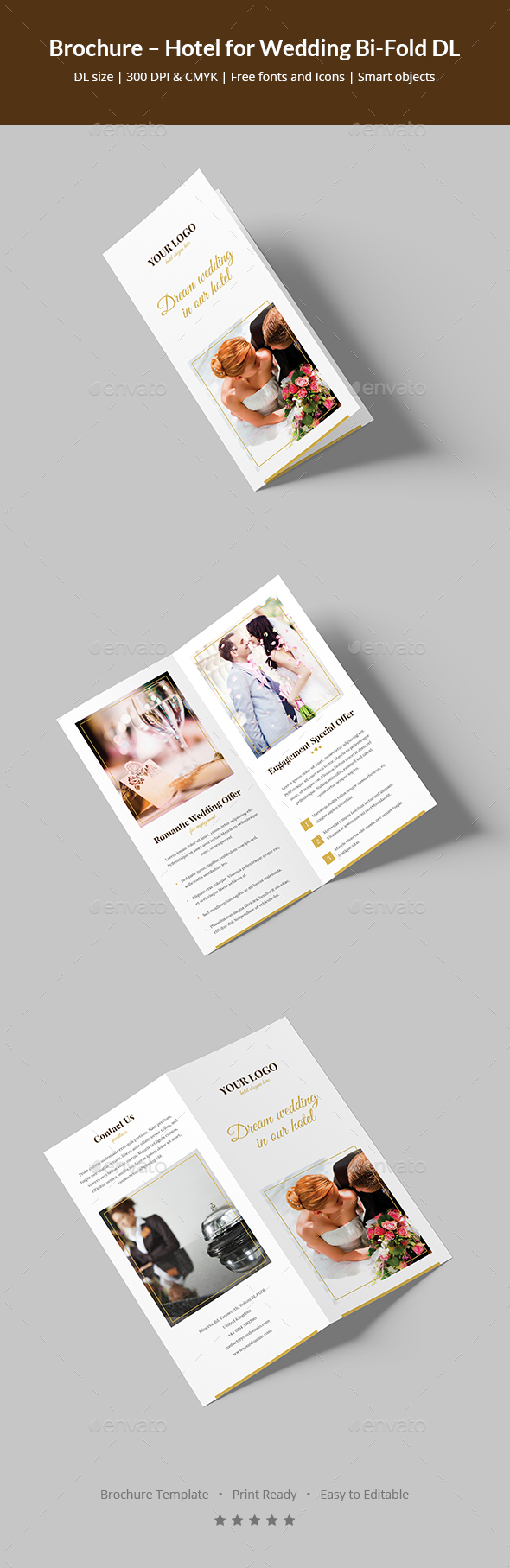 Brochure – Hotel for Wedding Bi-Fold DL - Informational Brochures