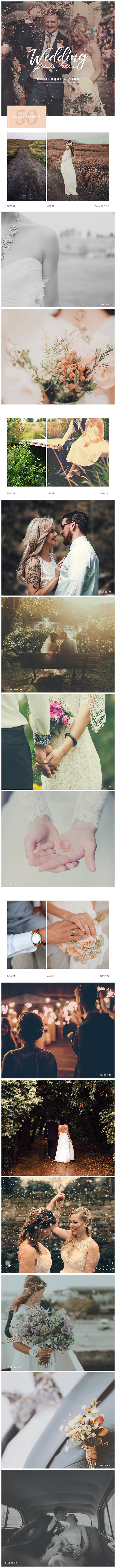 GraphicRiver Wedding Photo Filters Photoshop Action 20774807
