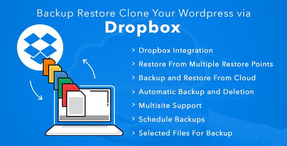 Backup Restore Clone Your Wordpress Via Dropbox - CodeCanyon Item for Sale