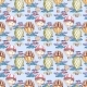 Seamless Hand Drawn Pattern with Aerostat Elements