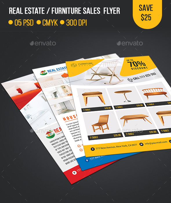 Real Estate / Furniture Sales Flyer Template - Commerce Flyers