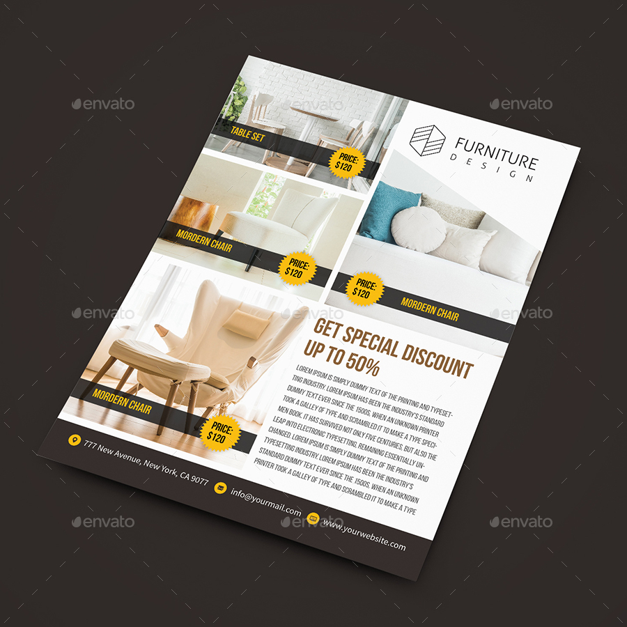 Real Estate / Furniture Sales Flyer Template By Createuiux