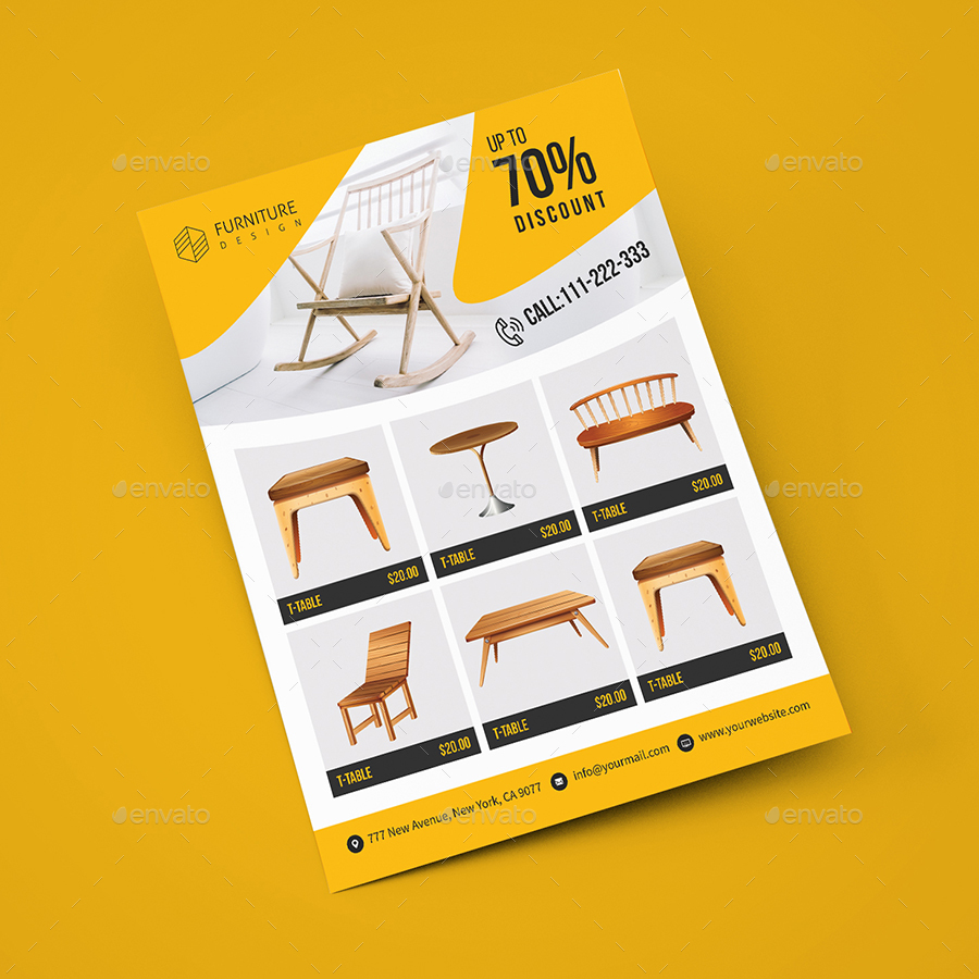 Furnature Sales: Real Estate / Furniture Sales Flyer Template By Createuiux