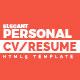 Elegant - Personal CV/Resume Portfolio HTML5 Template