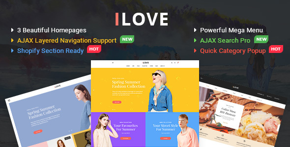 iLove - Highly Creative Responsive Shopify Theme (Sections Drag & Drop Ready)