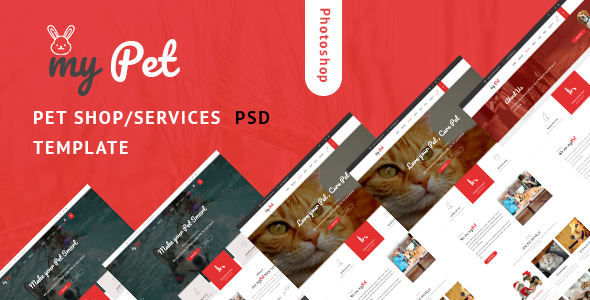 ThemeForest MyPet Pet Shop & Veterinary PSD Template 20775024
