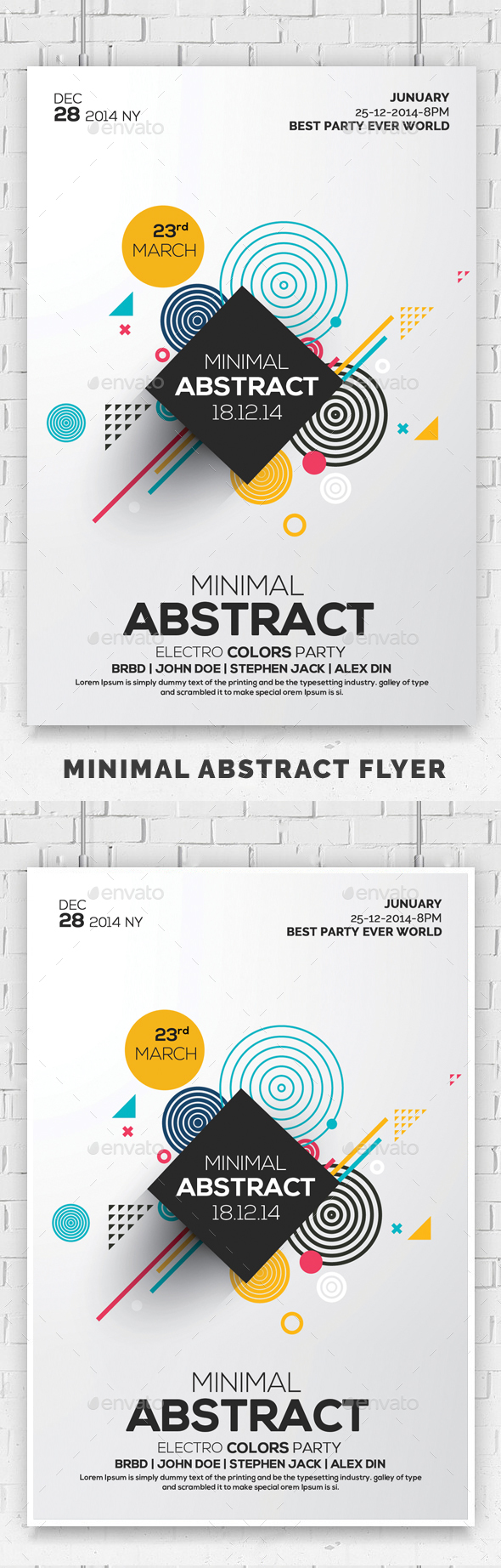 GraphicRiver Minimal Abstract Flyer Templates 20775071