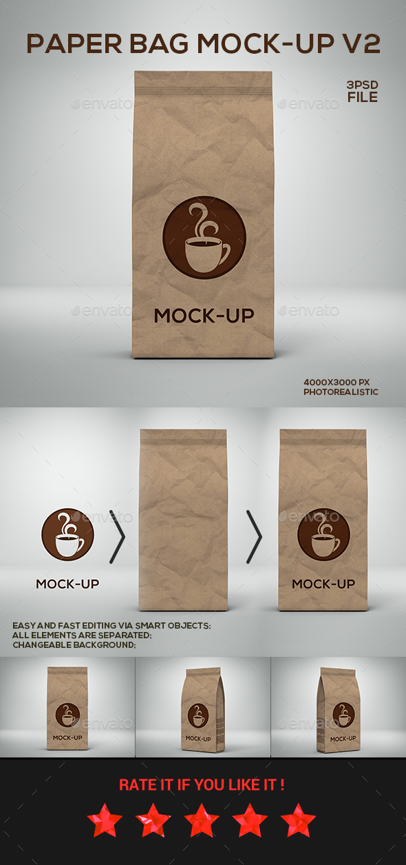 Paper Bag Mock-up v2 - Miscellaneous Print
