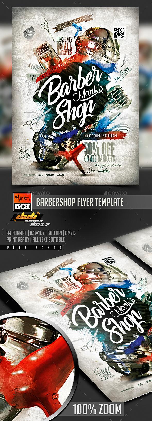 GraphicRiver Barbershop Flyer Template 20775119