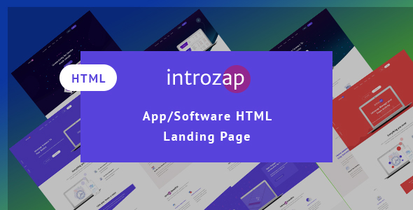 Download IntroZap: App/Software Landing Page