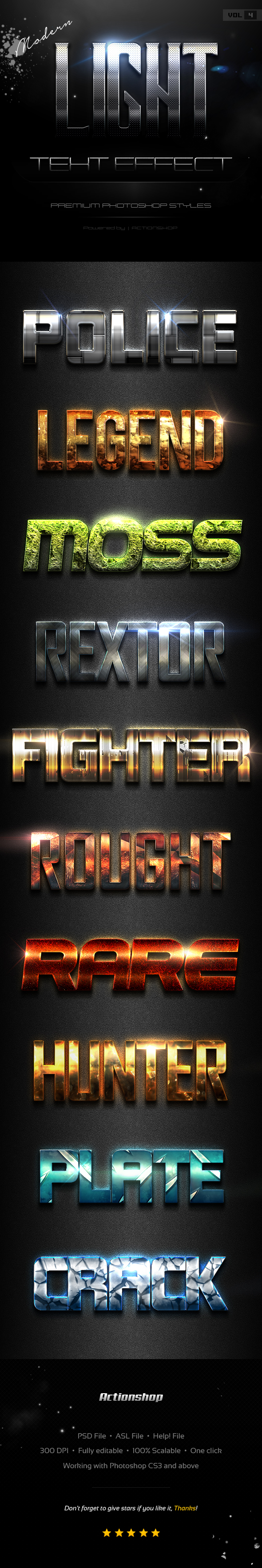 GraphicRiver 10 Modern Light Text Effects Vol.9 20775361
