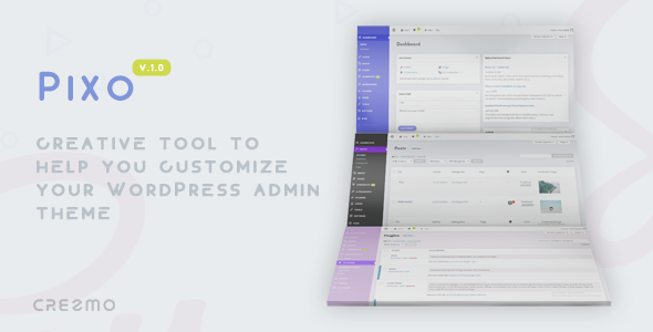 CodeCanyon Pixo Modern WordPress Admin Theme 20775379