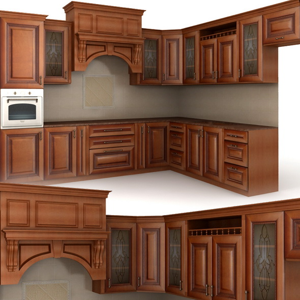 Classic cusine (kitchen furniture) - 3DOcean Item for Sale