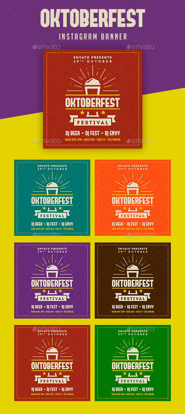 GraphicRiver Oktoberfest Instagram Banner 20775572