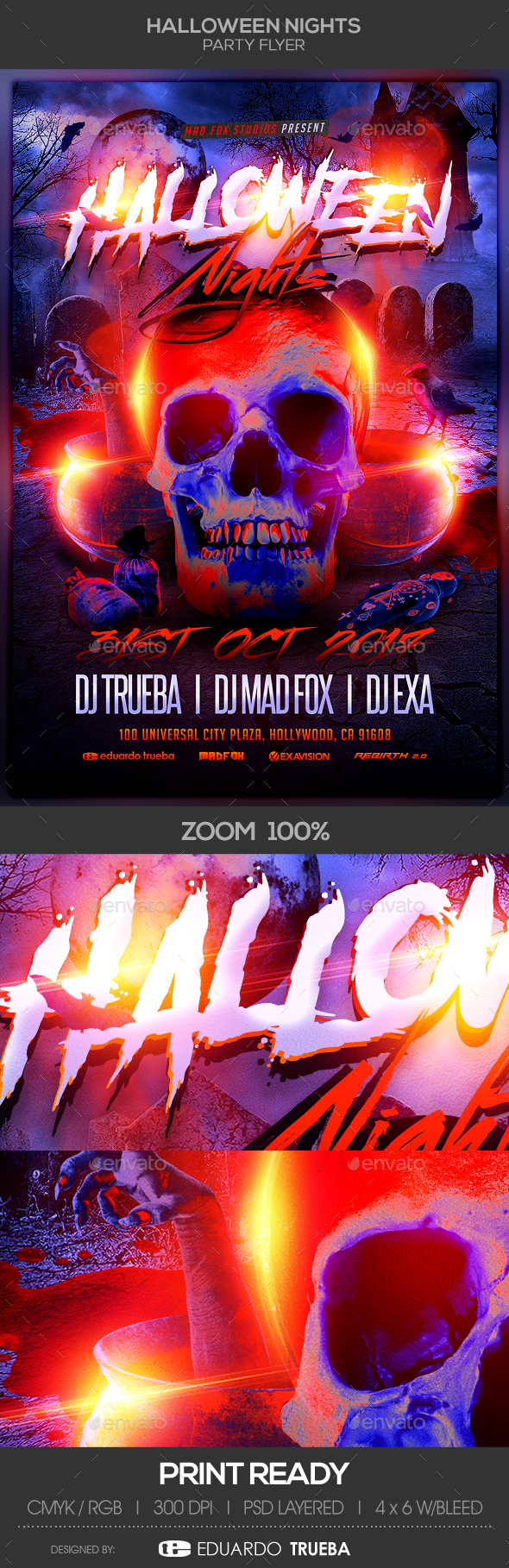 Halloween Nights Party Flyer - Clubs & Parties Events