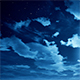Time Lapse of Cloudscape With Stars and Moon - VideoHive Item for Sale