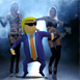 Donald Trump Rock And Roll 3D Cartoon Dancing