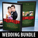 4 in 1 Wedding DVD Cover Templates Bundle 04
