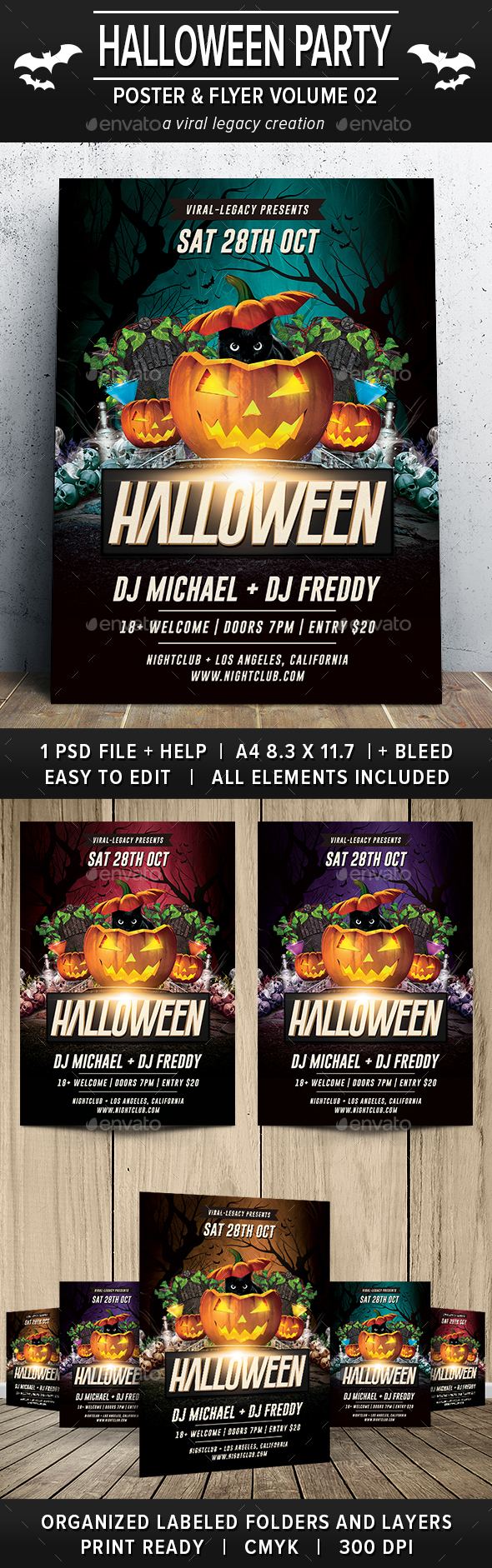 Halloween Party Poster / Flyer V02