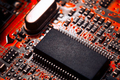 Bokeh electronic circuit close up computer. Selective focus - PhotoDune Item for Sale