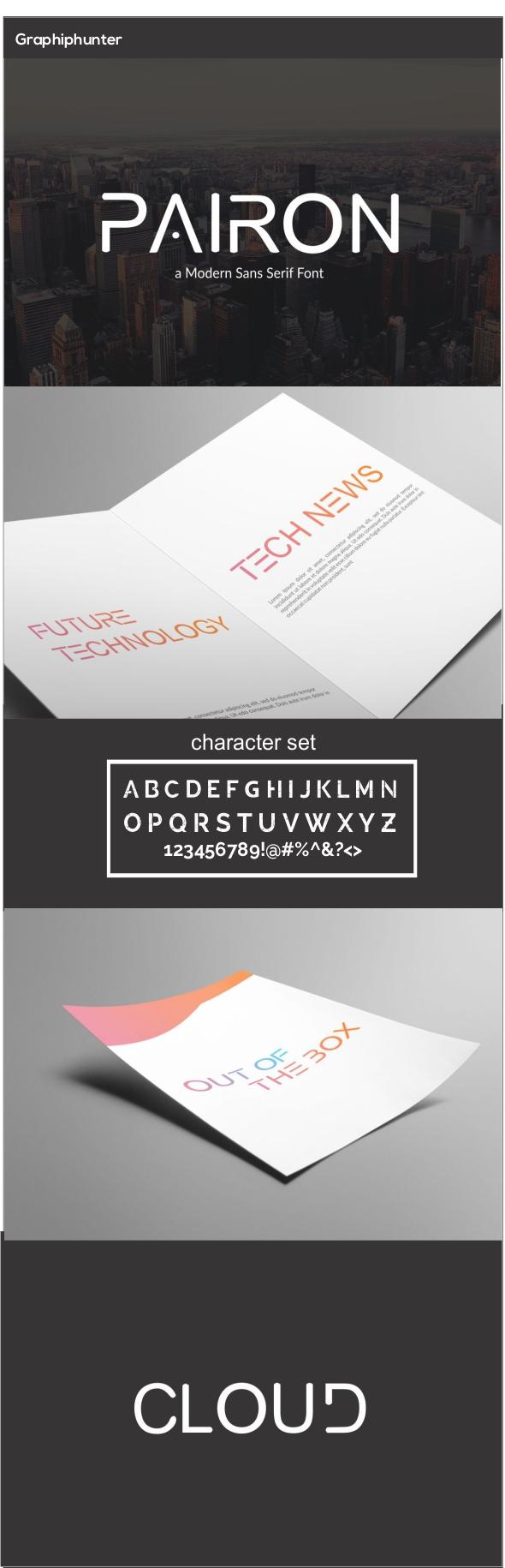 GraphicRiver Pairon tech sans serif font 20776230