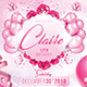 Pink Birthday Party Flyer / Invitation