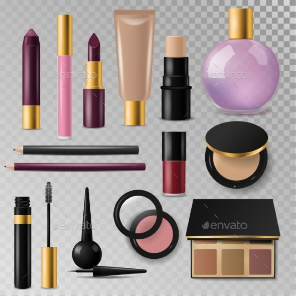Realistic Cosmetic Packs - Miscellaneous Vectors