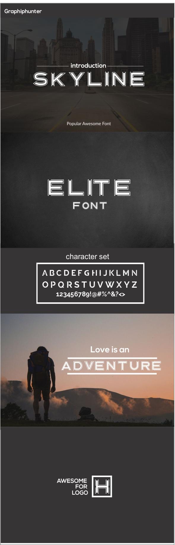 GraphicRiver Skyline Font 20776252