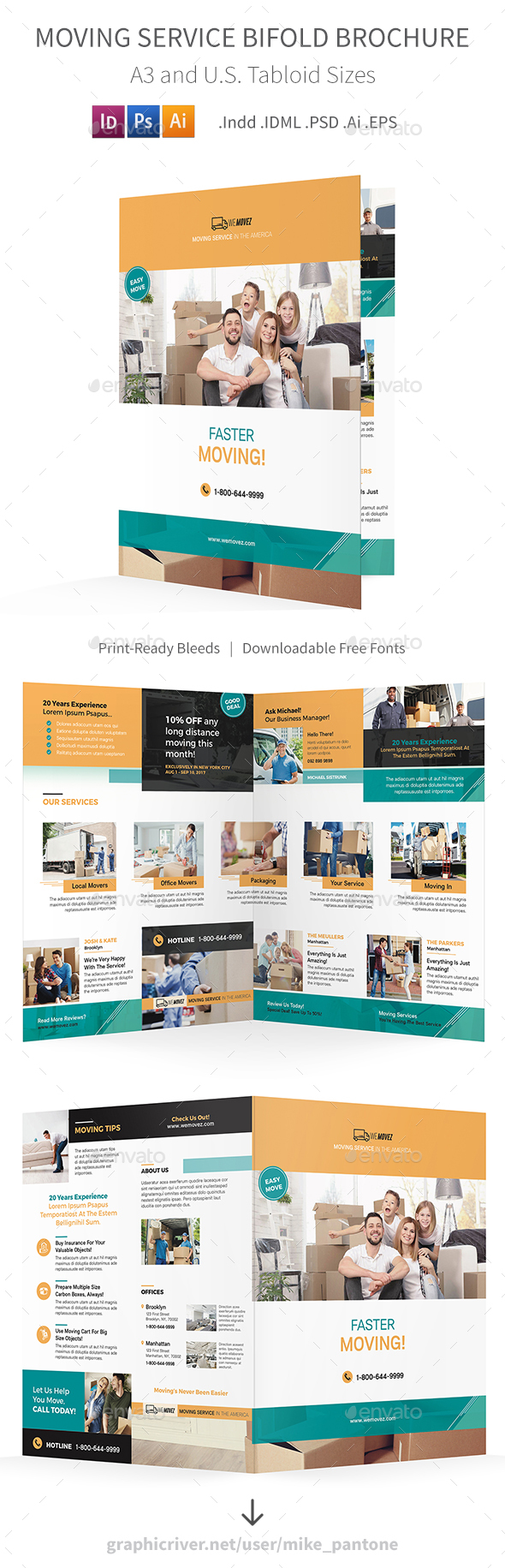 GraphicRiver Moving Service Bifold Halffold Brochure 2 20776289