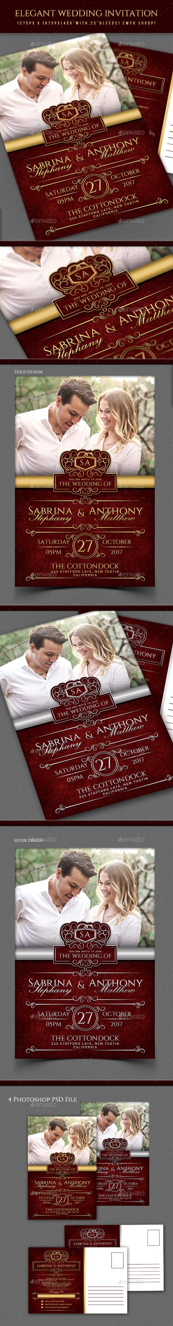 Wedding Invitation Elegant Graphics, Designs & Templates
