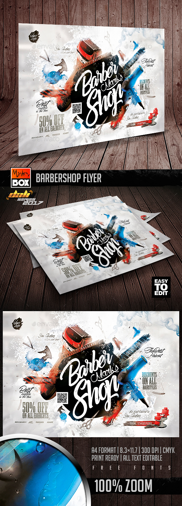 GraphicRiver Barbershop Flyer 20776480