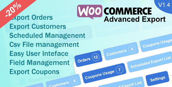 Woocommerce Advanced Export - CodeCanyon Item for Sale