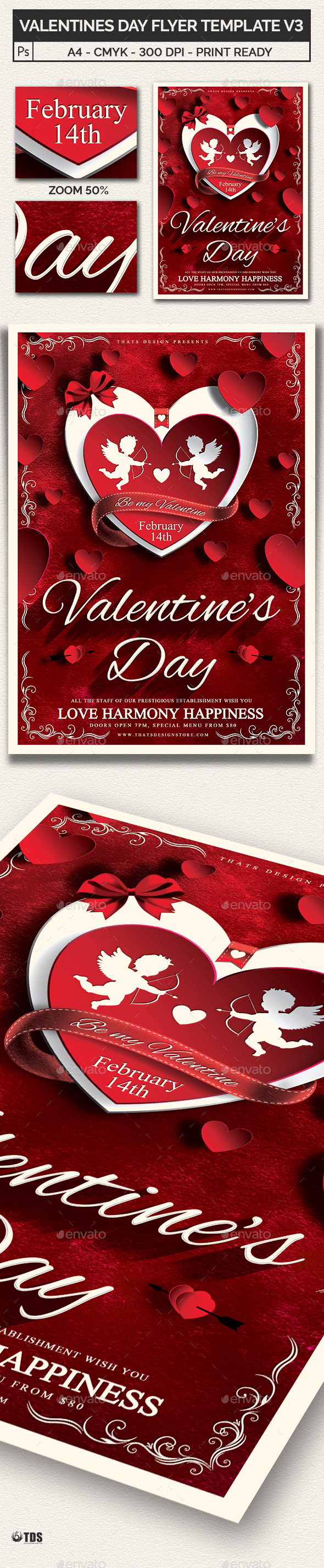 Valentines Day Flyer Template V3 - Holidays Events